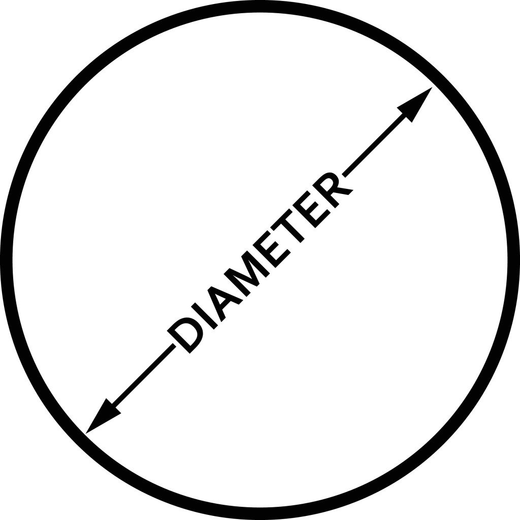 Diameter icon, flat isolated icon with circle(Zoart Studio)s