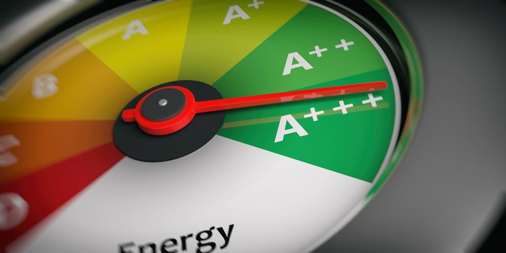 Energy efficiency as car speedometer close up(rawf8)s