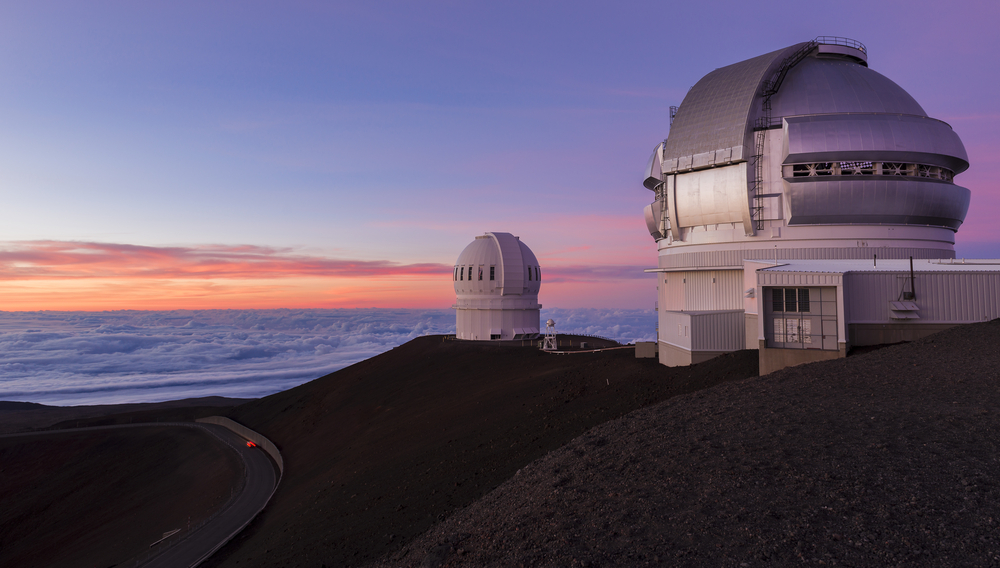 Mauna Kea telescopes at sunset(EastVillage Images)s