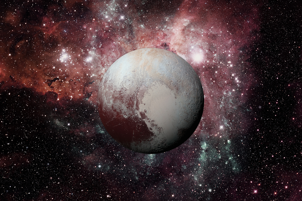 Pluto. It is a dwarf planet in the Kuiper belt(NASA images)s