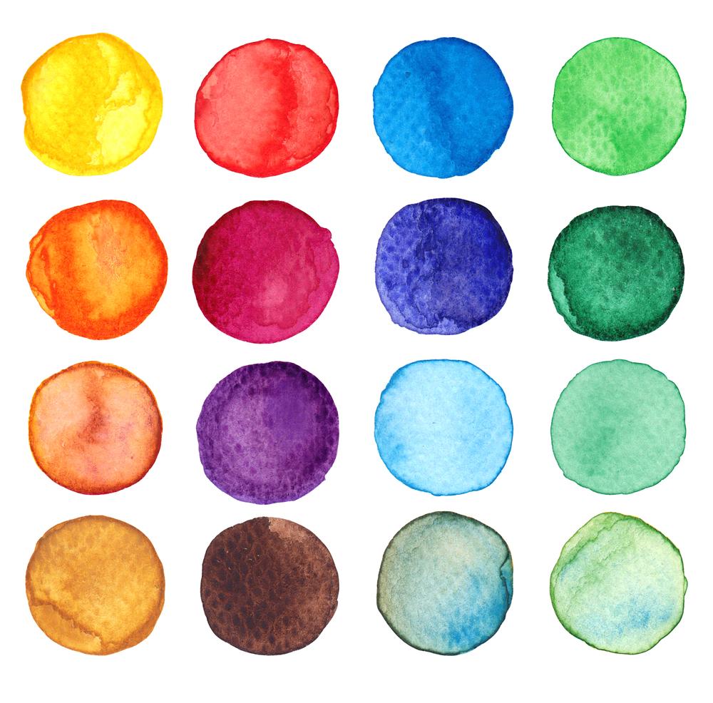 Set of multicolored watercolor dots(Velazquez77)s (1)