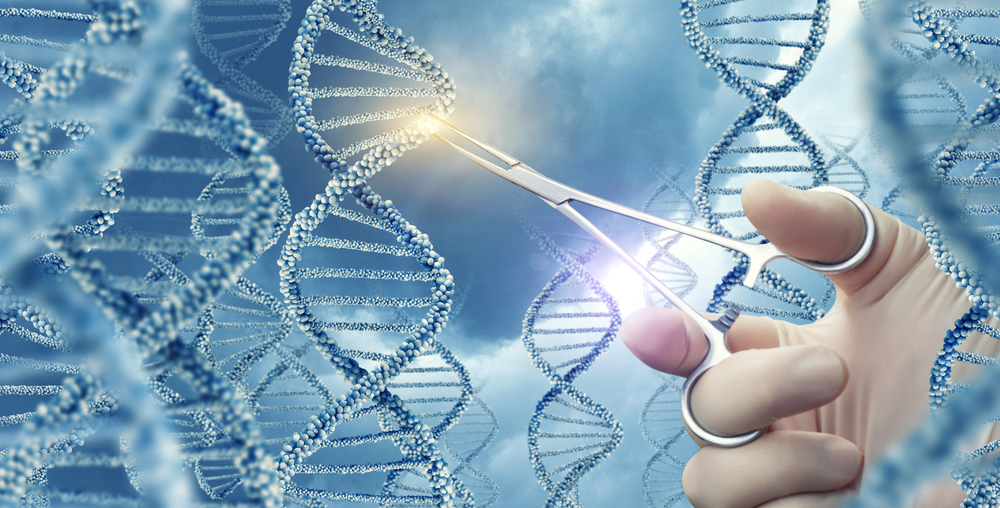 Doctor touched medical clamp a DNA molecule(Natali_ Mis)s