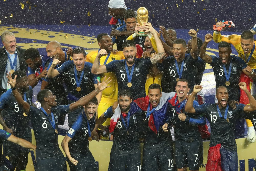 France celebrates after winning the FIFA 2018 World Cup in Russia(A.RICARDO)s