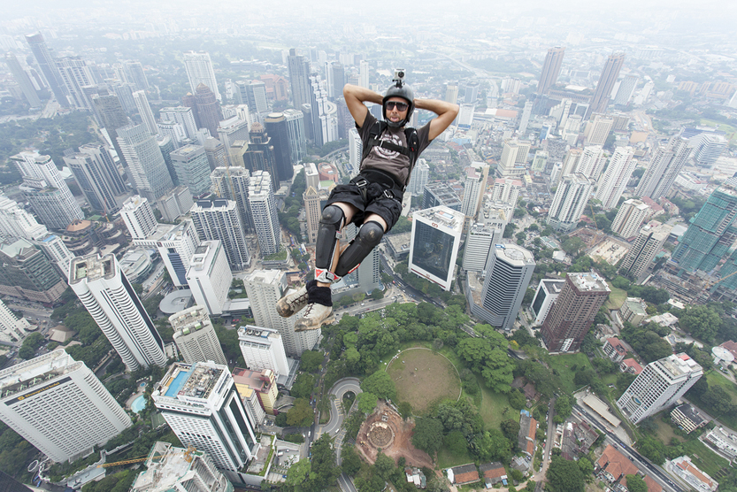 KL Tower BASE Jump is an annually event and participants from experienced BASE jumpers from all around the world(Muslianshah Masrie)s