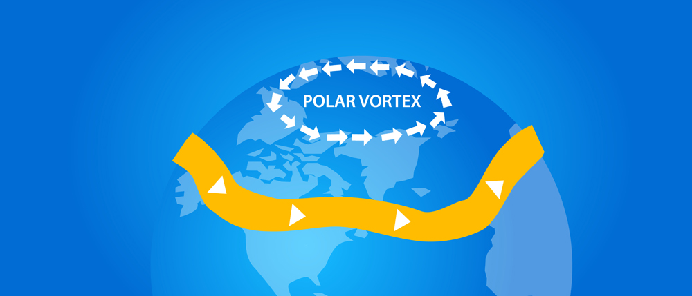 polar vortex illustration globe wind direction(Bakhtiar Zein)S