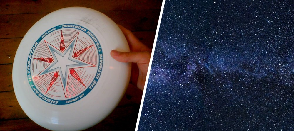 universe and frisbee