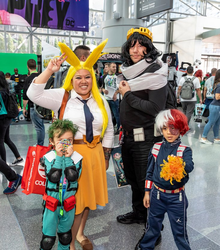 Comic Con attendees pose in the costumes during Comic Con(Sam Aronov)s