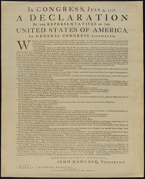 Declaration of Independence. In Congress
