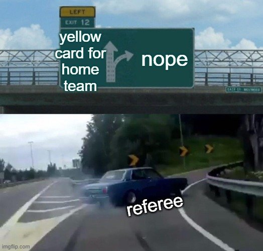 angry fans referee bias sport home advantage meme