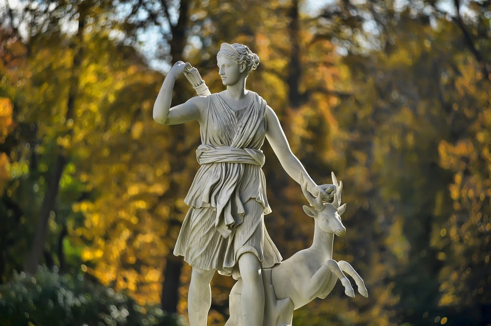 A statue of the mythological huntress Diana(Evdoha_spb)s