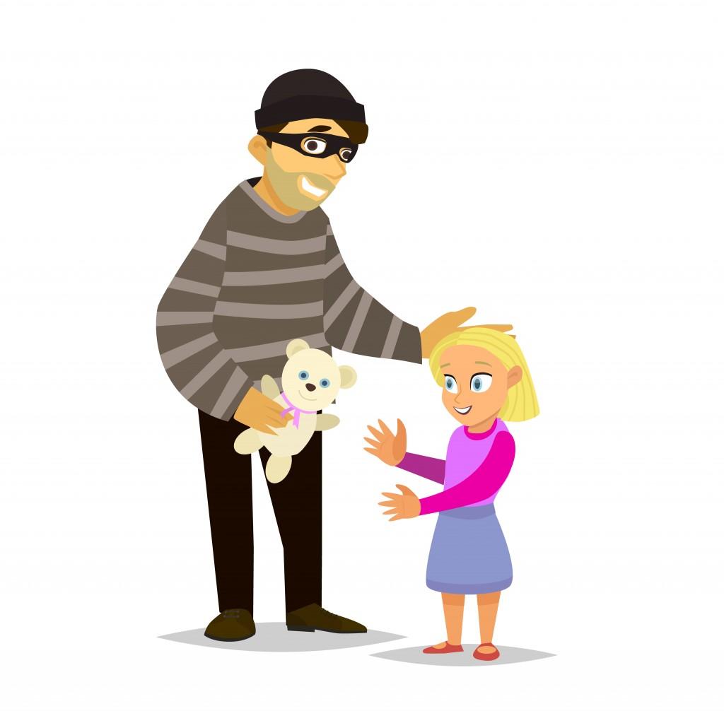 A stranger lures a little girl(FedorAnisimov)s