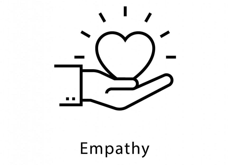 Empathy Vector line Icon(Creative Stall)s