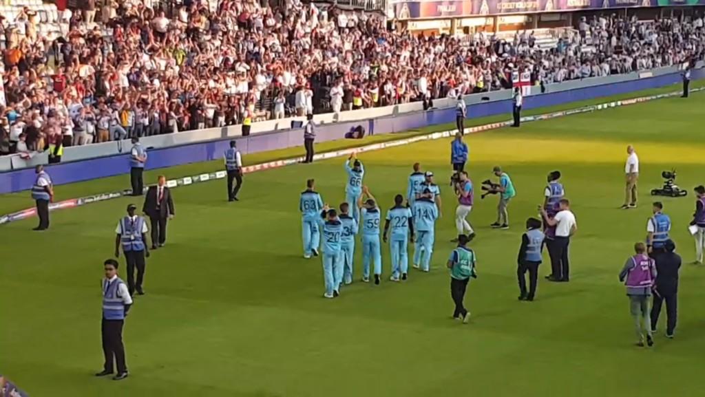 England victory lap
