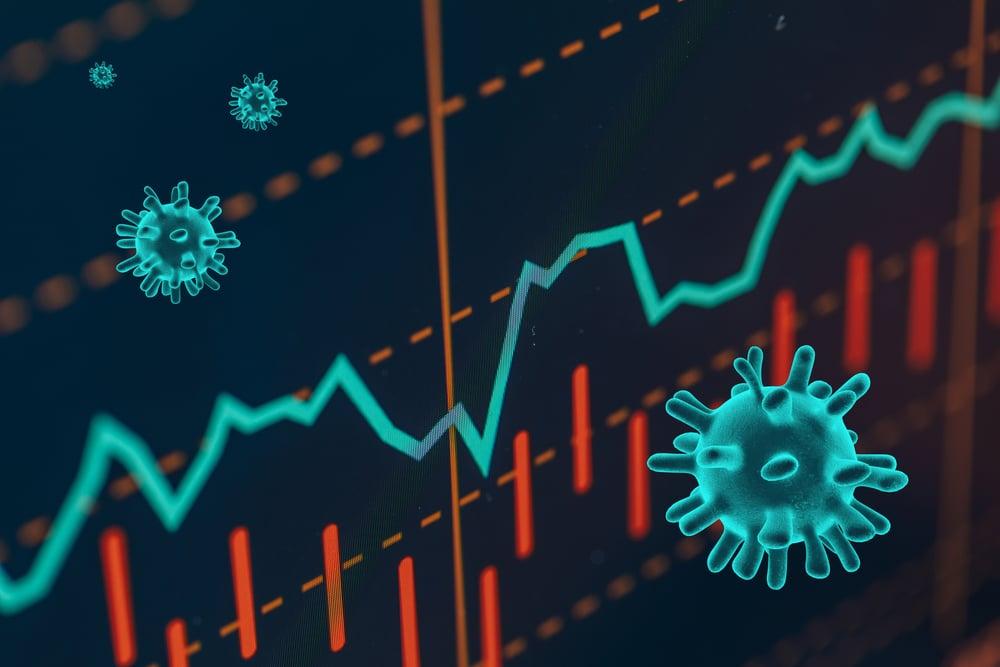 Graphs representing the stock market crash caused by the Coronavirus(OSORIOartist)