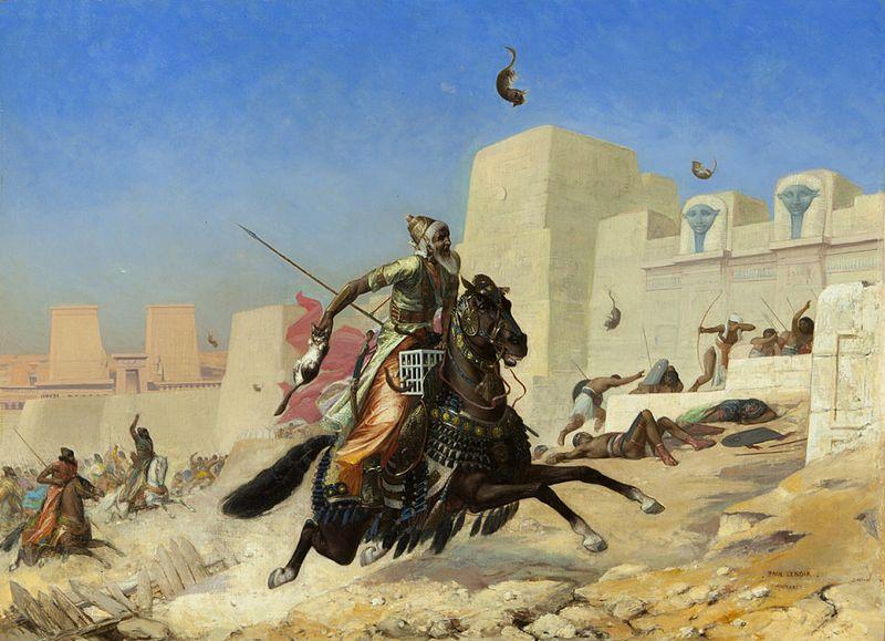 Le roi Cambyse au siège de Péluse par Paul-Marie Lenoir