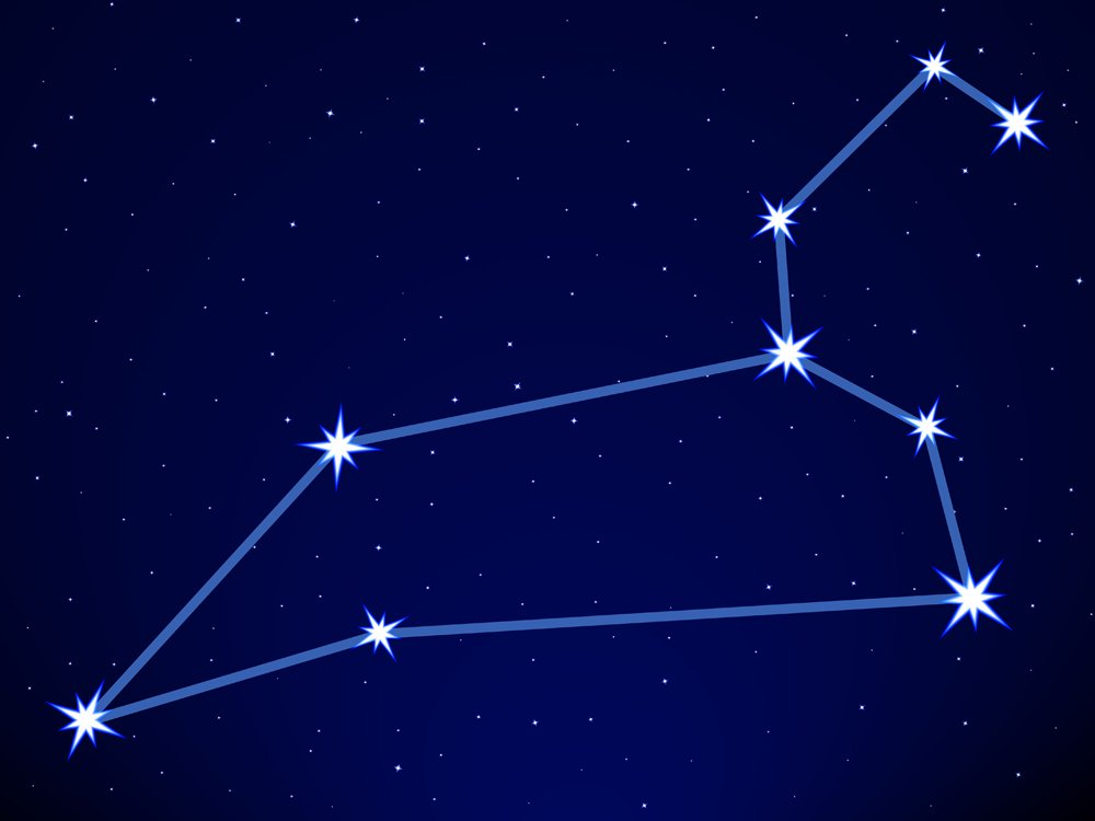 Leo constellation on the starry sky(AlexanderZam)S