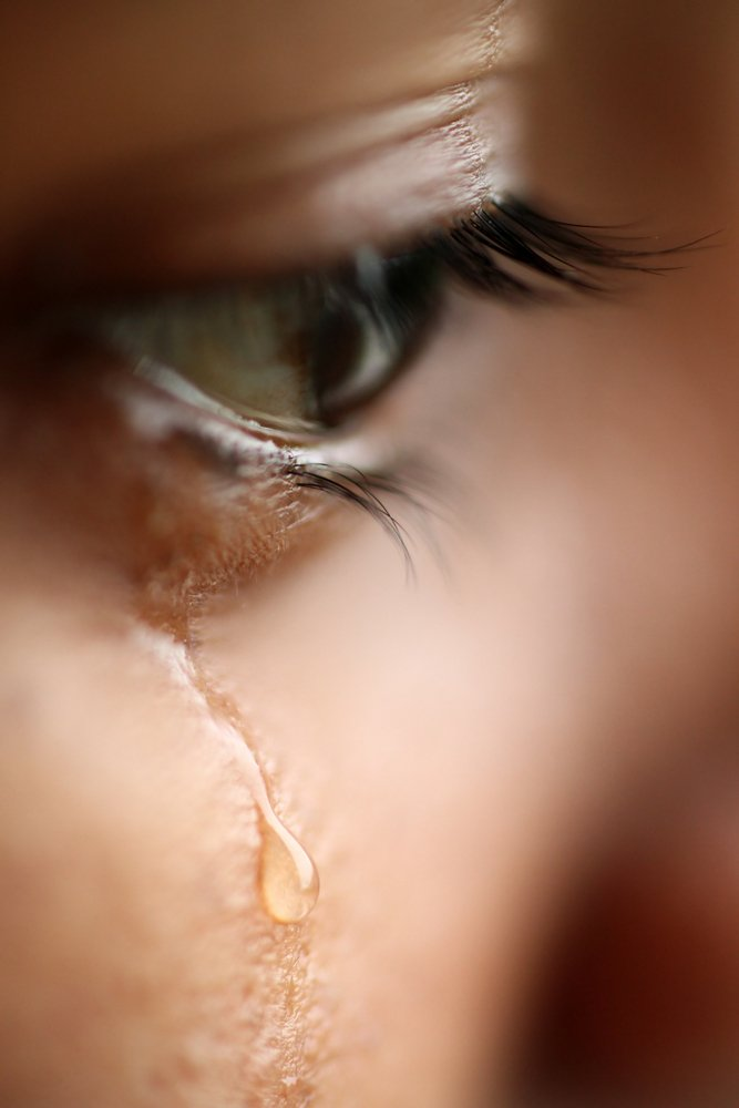 Macro view of an eye with tears(pbsubhash)S