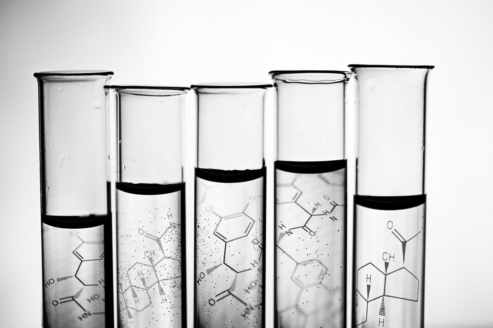 Row of test tubes in black and white style(isak55)s