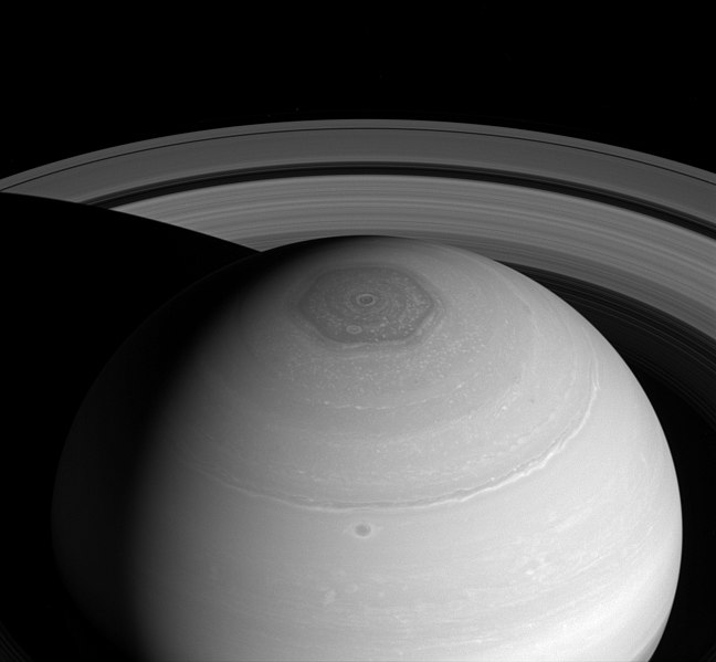 Saturn-NorthPolarHexagon-Cassini