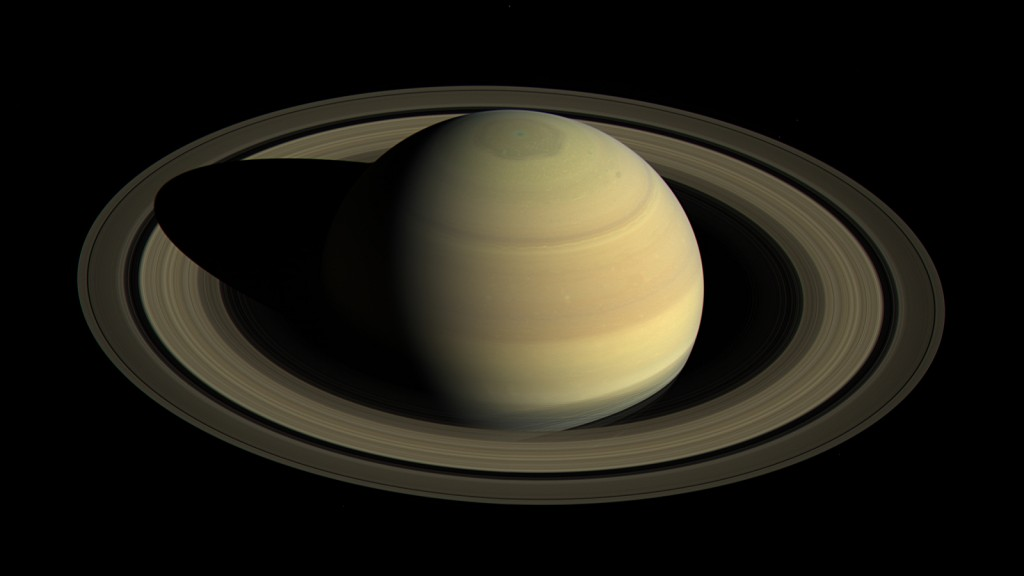 Saturn's image captured by Cassini