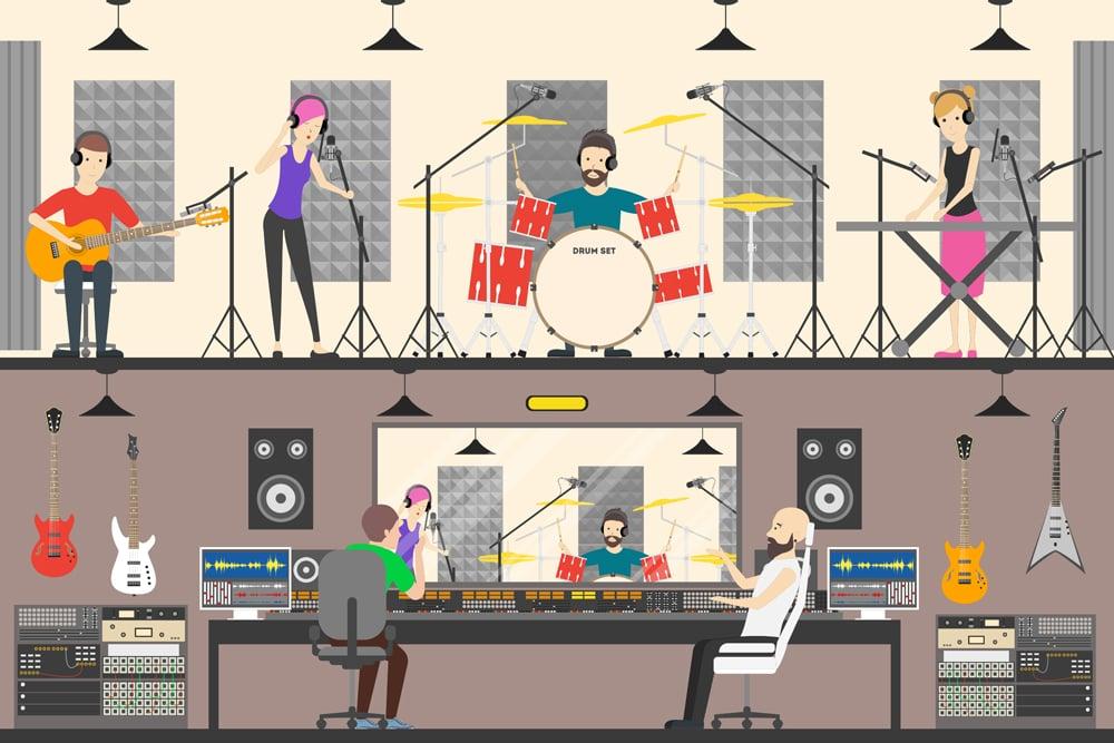 Sound recording studio(Inspiring)s