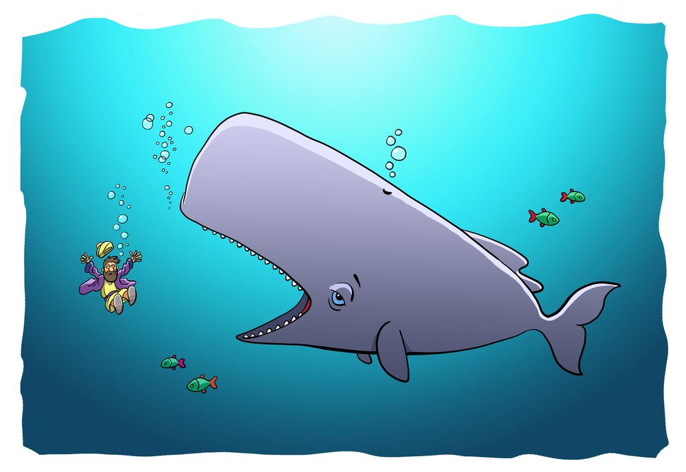 The Whale swallows Jonah(askib)s