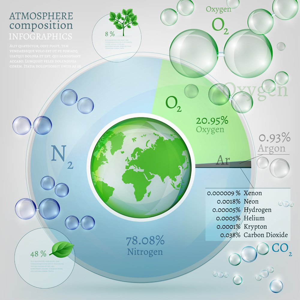The illustration of beautiful bio infographics with atmosphere composition scheme(Double Brain)S