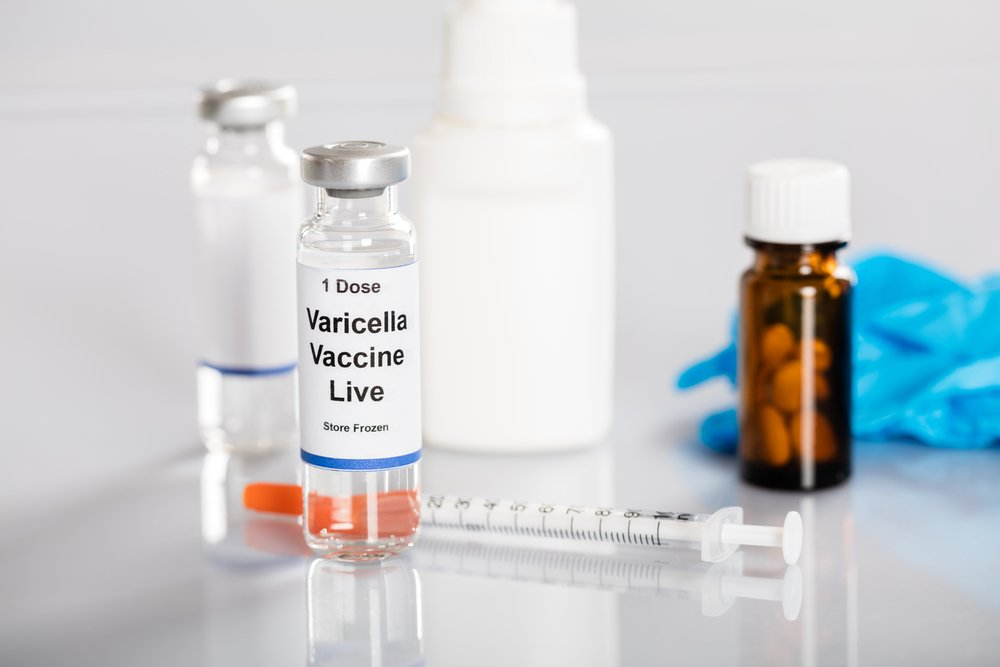Varicella Vaccine In Vial With Syringe And Medicines(Andrey_Popov)S