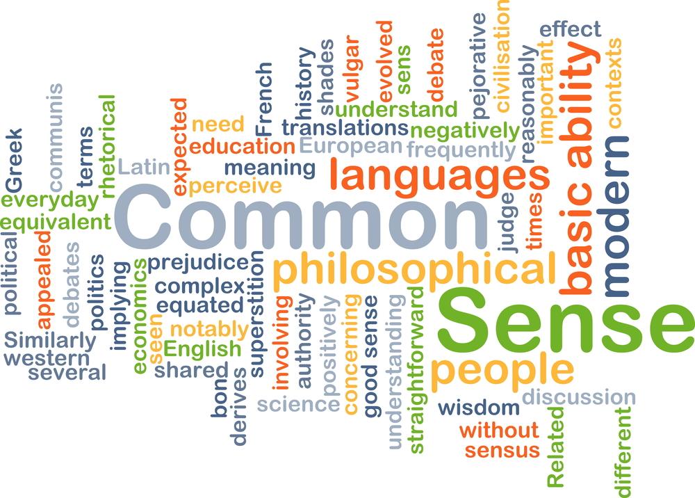 wordcloud illustration of common sense(Kheng Guan Toh)s