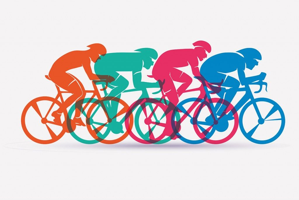 Cycling race stylized background(baldyrgan)s