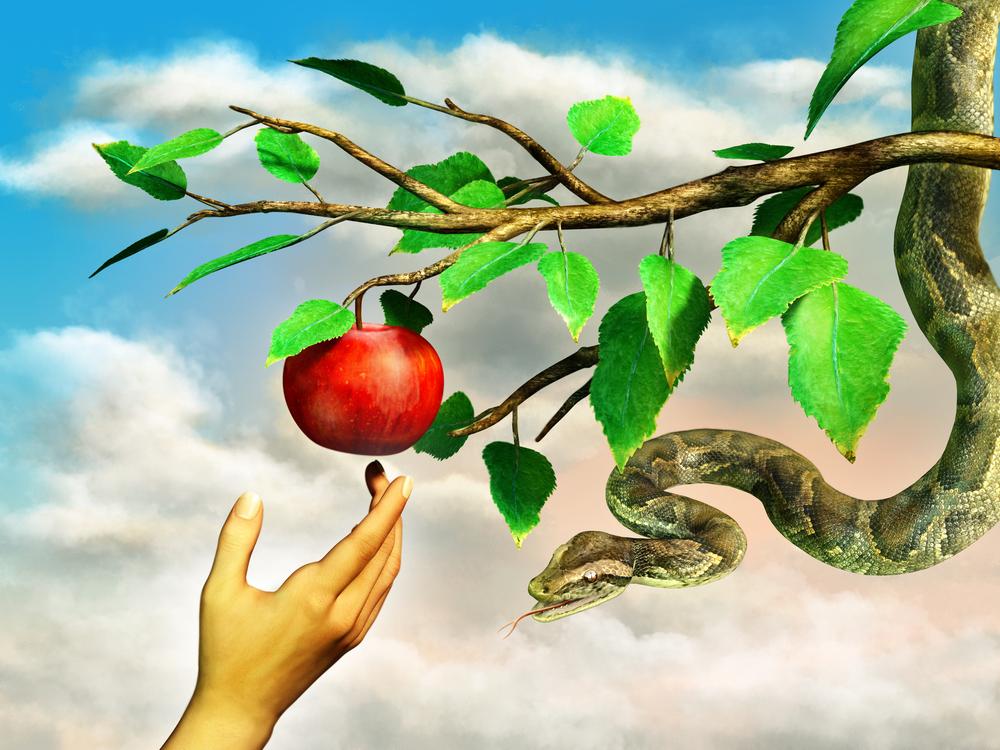 Eva's hand reaching for the forbidden apple(Andrea Danti)s