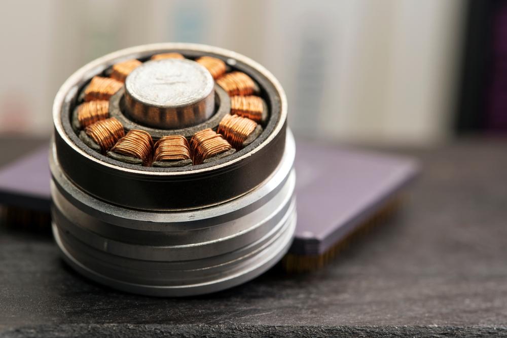 Hard disk drive spindle motor stator coils macro(Orvar Belenus)s