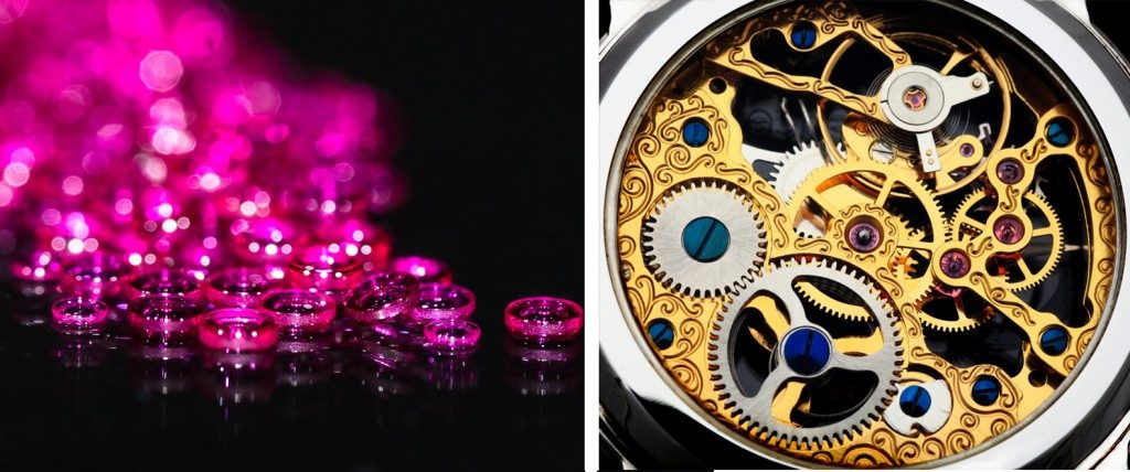Jewel bearings are primarily used in watch movement