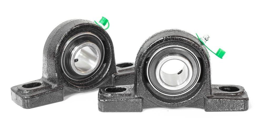 Roller bearings on white background. industry(nayladen)S