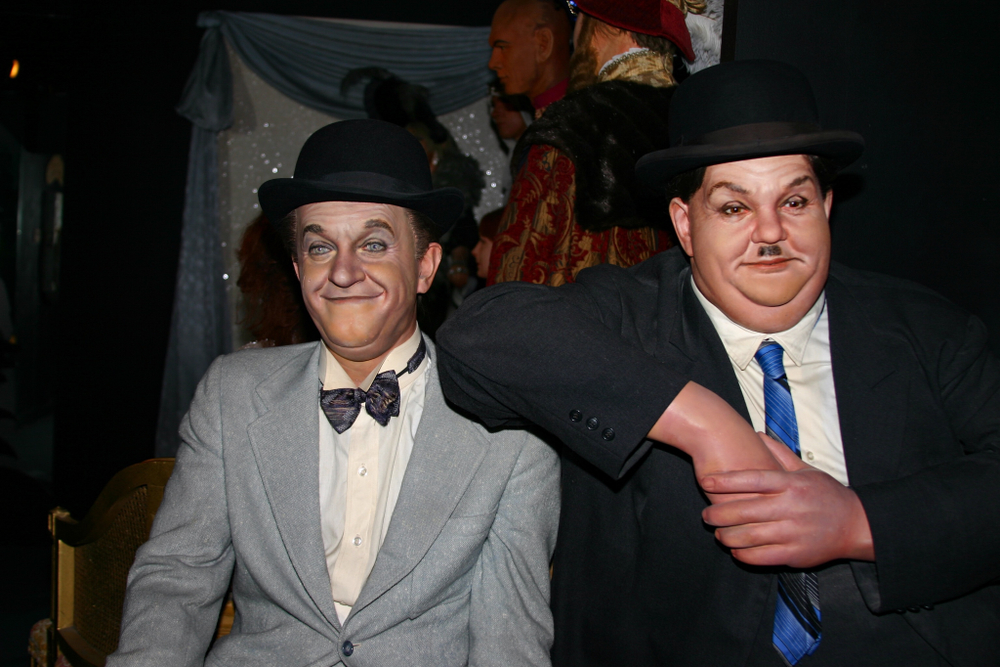 Waxwork tableau of Stan Laurel and Oliver Hardy(Dan Oberly)s