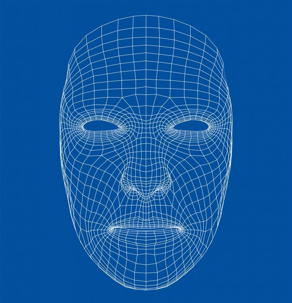 Wire-frame abstract human face(cherezoff)s