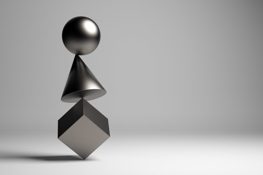 3D illustration. Zen figures. Balance concept(R Mendoza)s