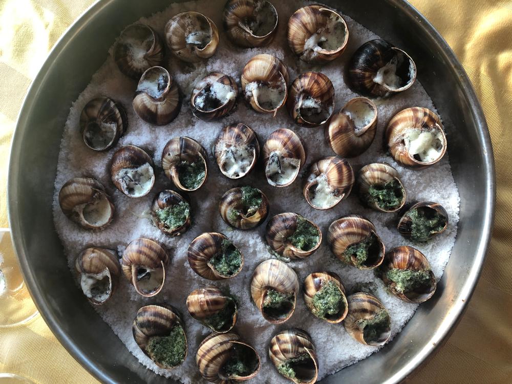 Burgunian snails on a plate with salt(Rita Piermiakova)s