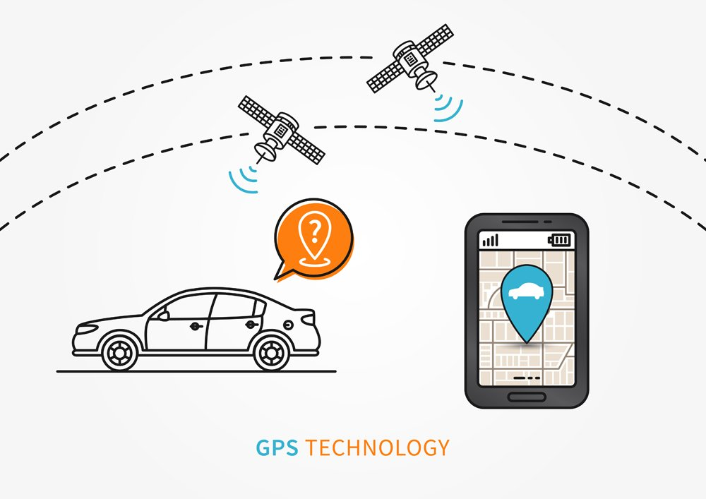 Car GPS search vector illustration. Navigation technology for automobile or motor vehicle creative concept(AleksOrel)s