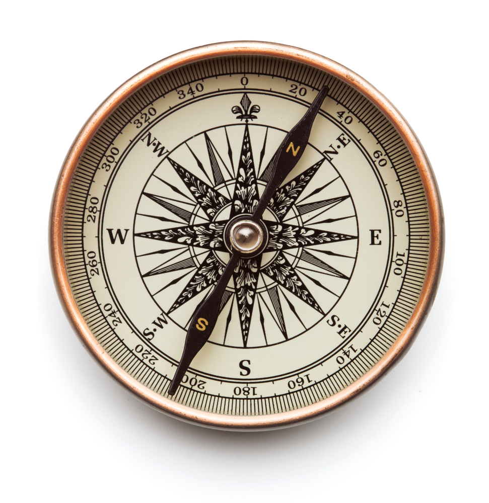 Vintage compass isolated on white background(Alex Staroseltsev)S