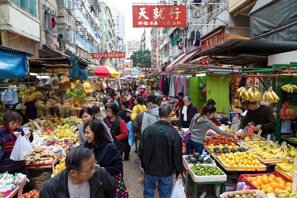 Yau Ma Tei Market is divided into two parts, one is located in Gansu Street(Daniel Fung)s