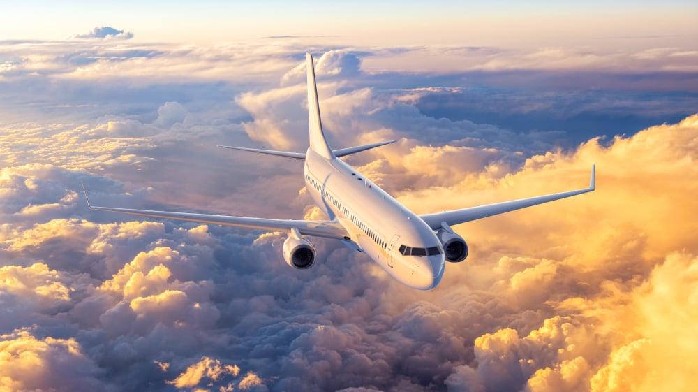 airplane in the sky, 3d rendering(joo830908)S