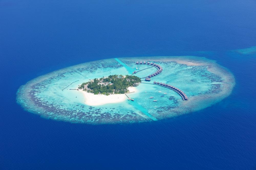 Aerial view on Maldives island, Raa atol(Jag_cz)s