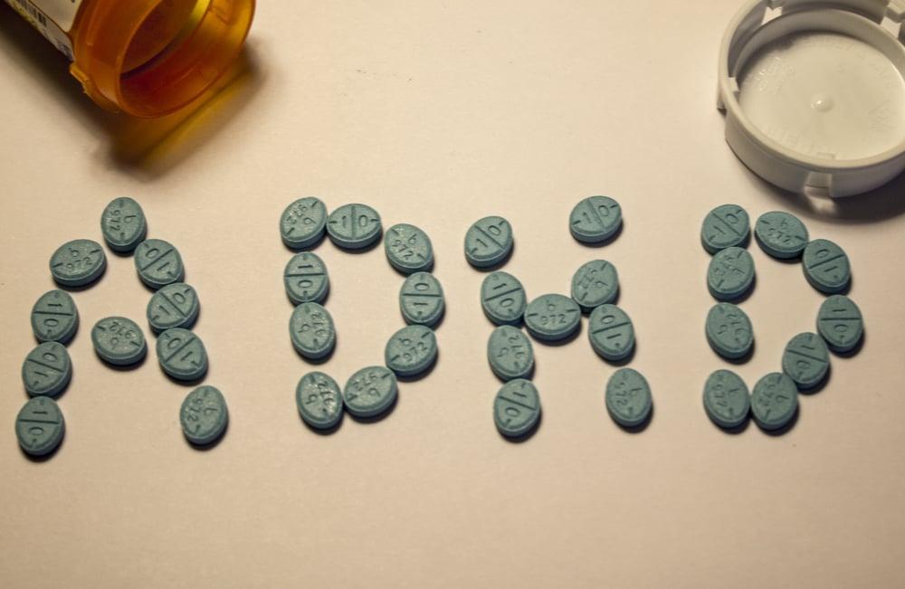 Generic Adderall pills arrange to spell ADHD(Johnnyamoeba8)S