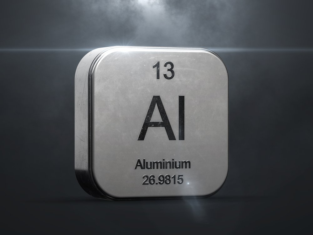 Aluminium element from the periodic table(concept w)s