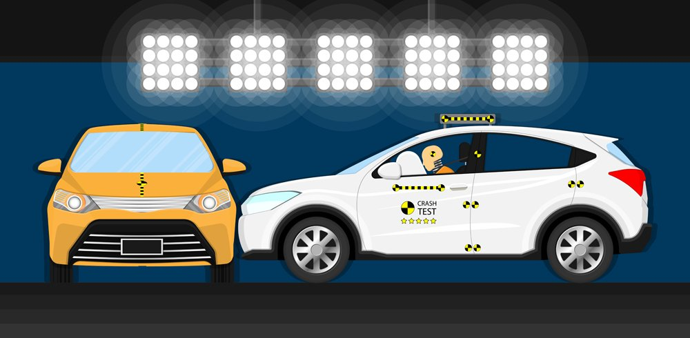 Car crash test transport driver avoid crashworthiness manufacturer breaking(rumruay)S