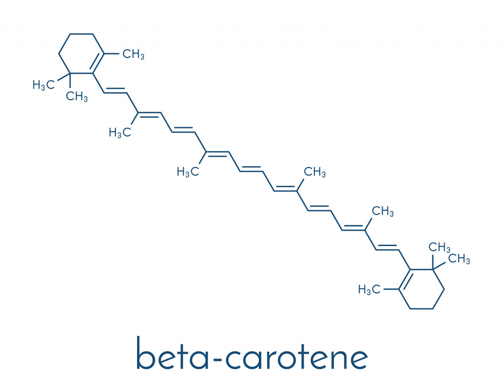 Beta-carotene pigment molecule(StudioMolekuul)