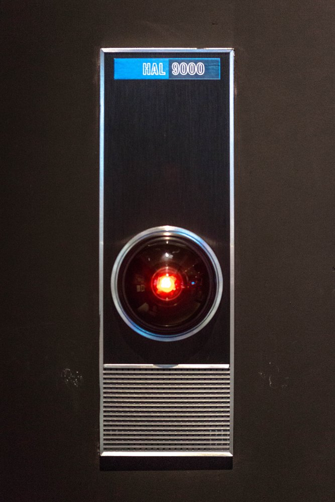 The original prop of the HAL 9000 from the Stanley Kubrick adaptation of 2001 A Space Odyssey(Hethers)s