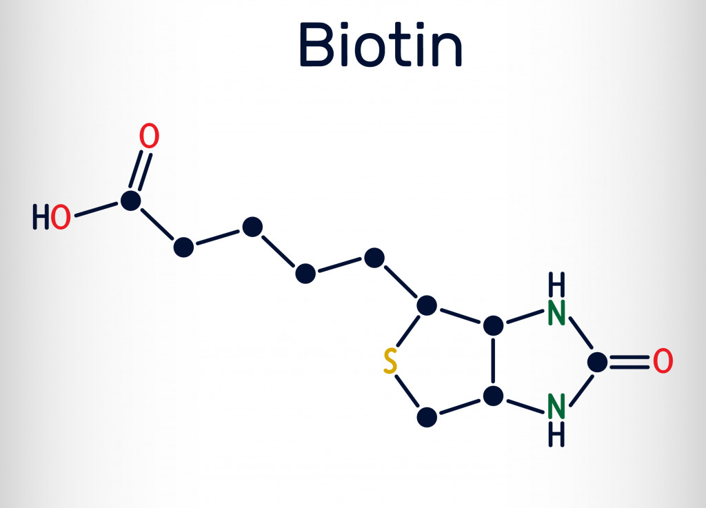 Biotin, vitamin B7 molecule(Bacsica)S