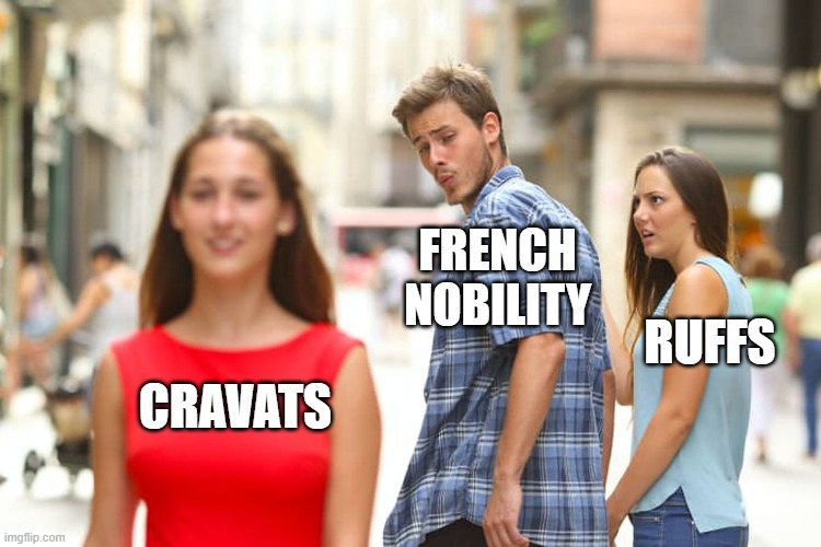 FRENCH NOBILITY; RUFFS; CRAVATS